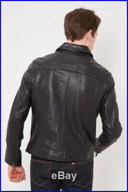 -50% NWT Blouson Cuir TIMBERLAND MOUNT MAJOR Leather Jacket A1NV7 -S- RRP800