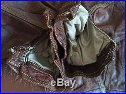 AVIREX VINTAGE (80's) BLOUSON COUPE CLASSIC CUIR MARRON TAILLE XXL, MADE USA