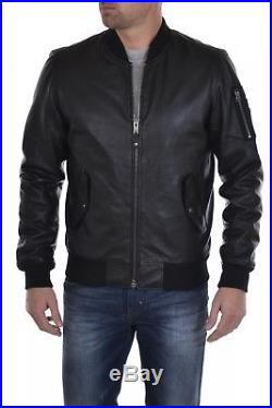 BLOUSON CUIR HOMME SCHOTT LC2305B BLACK Taille M / MEDIUM BOMBERS TEDDY