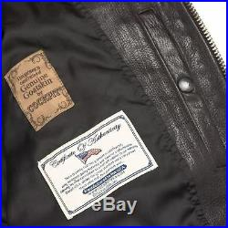 Blouson Aviateur Cuir G-1 Classic Vintage Naval Aviators Made in USA Taille 40