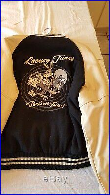 Blouson Cuir Homme taille XL Warner Bros Collector 1985 USA Etat neuf