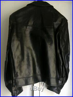 Blouson cuir AERO LEATHER Highwayman Taille /SIze 44 Leather Jacket