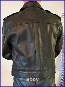 Blouson cuir leather Jacket leather lined leder deluxe