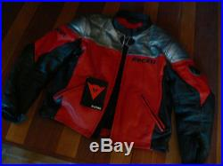 Blouson moto cuir Dainese Ducati corse taille L (52) neuf