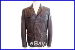 Neuf Manteau Matchless XL L 50 En Cuir Marron Homme Blouson Leather Jacket 1500