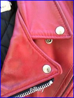 Perfecto SCHOTT New York Blouson Cuir USA Taille 42 ROUGE RED Jacket TOP