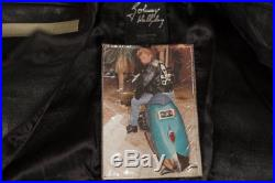 RARE COLLECTOR JOHNNY HALLIDAY! BLOUSON VINTAGE MOTO 60'S, taille 52 Comme Neuf