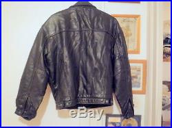Rare authentique Blouson Cuir Johnny Hallyday