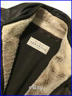 SERAPHIN Paris blouson cuir Hermes Makers 58 XXL 48US jacket made in France